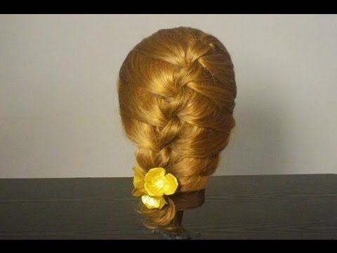 Прическа на каждый день с плетением.  Knots anyone can do it