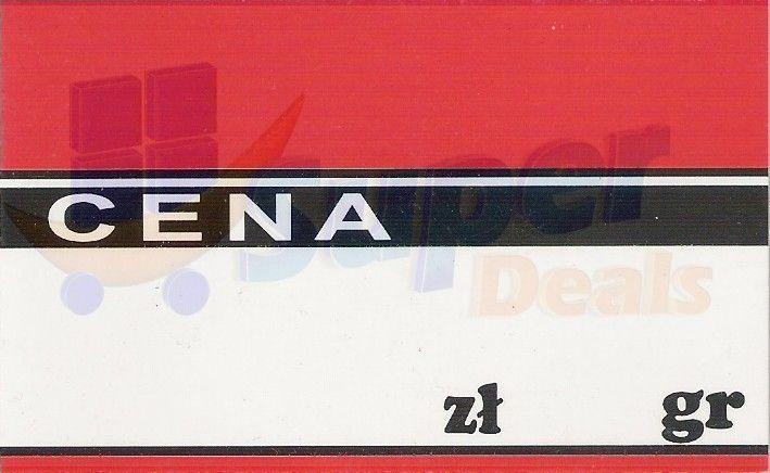 Cena laminowana mała na szpilkę, 55 x 90 mm -50 szt.