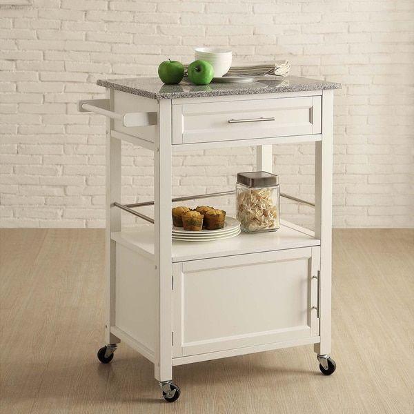 Linon Elaine Classic Mobile Kitchen Cart