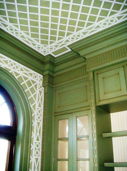 Kelly Wearstler ceiling millwork detail