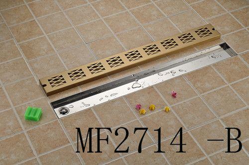 Luxury Stainless Steel 90cm Shower Floor Drain Bathroom Linear Long Grate Channel Tile Drains
