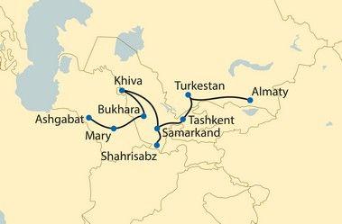 Rotas do Vento - Turquemenistão, Uzbequistão, Casaquistão - Na Lendária Rota da Seda