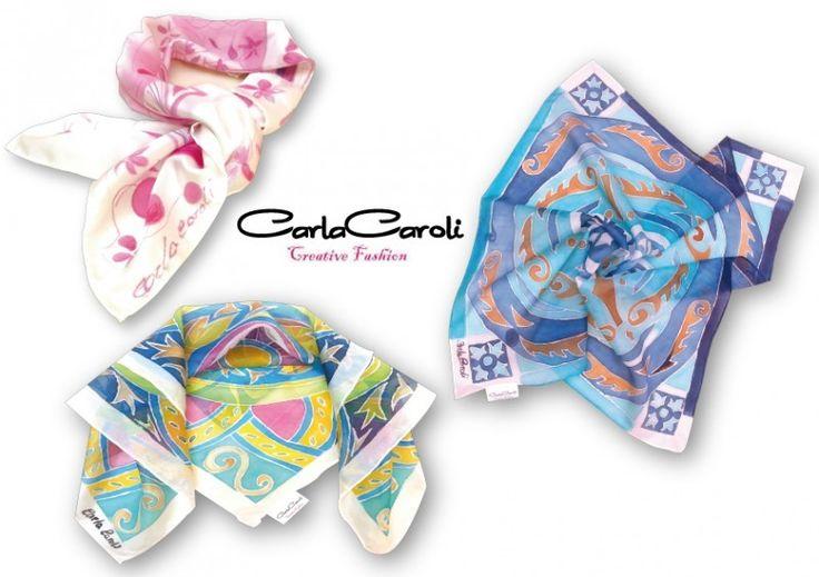 Foulard dipinti a mano su seta by Carla Caroli