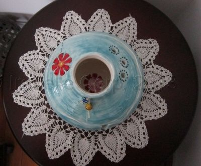 Yarn Bowl with lid from Tulipe Studios Flower Design