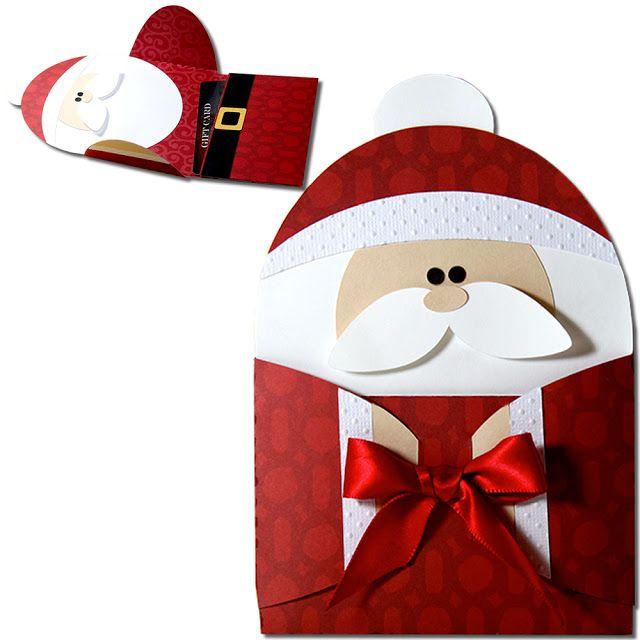 JMRush Designs: Santa Hug Gift Card Holder