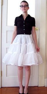 How to make a petticoat (crinoline). In case it ever comes back in fashion or I have a fun party :)