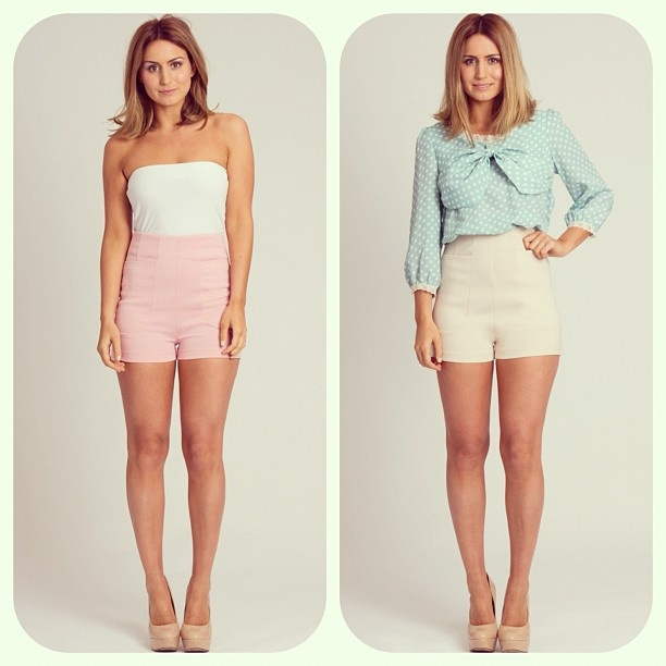 'Hallie' High Waisted Shorts