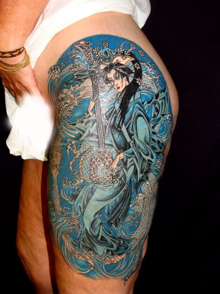 Apparently tattoos hide cellulite. I may need to do this ...