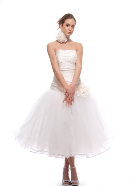 There's something very fun about this one. No lace, but it's got a tulle skirt, my other love.  Cybil by Elizabeth St John Couture
