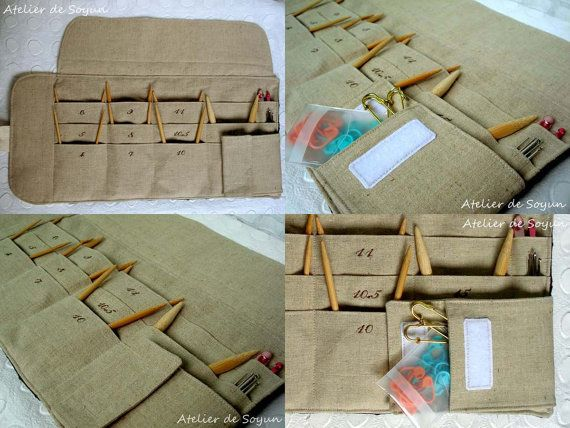 Circular Knitting Needle Case Needle Holder by AtelierDeSoyun, $68.00