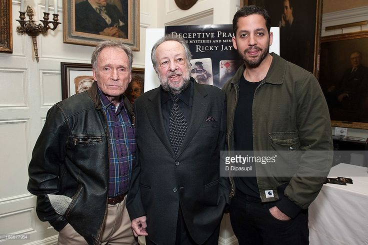 Dick Cavett, Ricky Jay, and David Blaine attend the 'Deceptive Practice: The Mysteries And Mentors of Ricky Jay' screening at The Players Club on April 15, 2013 in New York City.