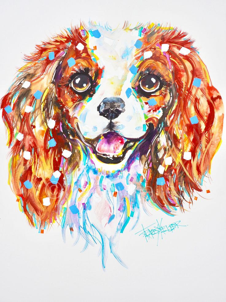 King Charles pet portrait painting