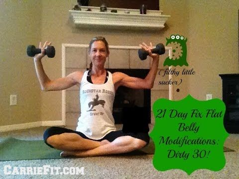 Flat Belly System - CarrieFit Modifications for 21 day fix for diastasis recti