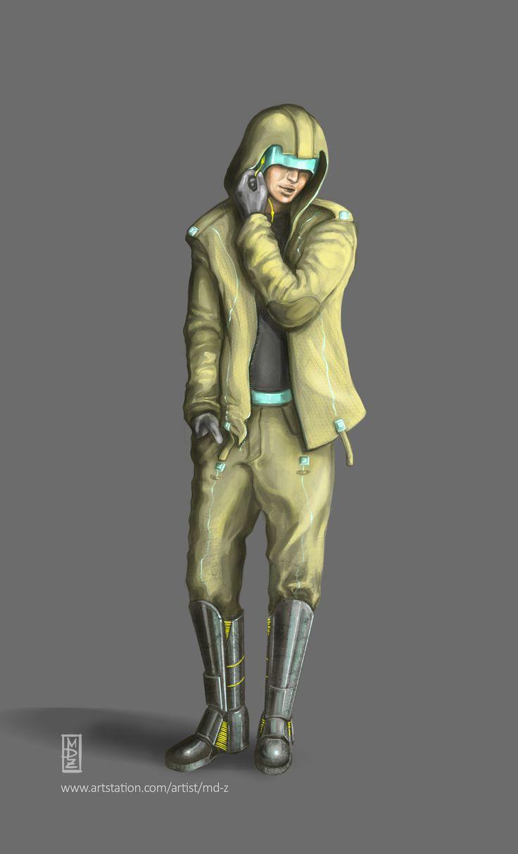Megalopolis - citizen Biowars Character concept - Biowars 2016  https://www.artstation.com/artwork/XO20l