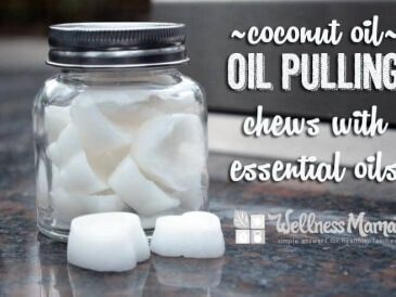 Coconut Oil Pulling Chews - These simple homemade coconut oil pulling chews use coconut oil and essential oils to cleanse the mouth and remove plaque.