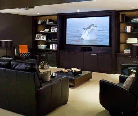 Media Room Furniture Layout Extraordinary 37 Best Media Rooms Images On Pinterest  Basement Ideas Home Inspiration Design