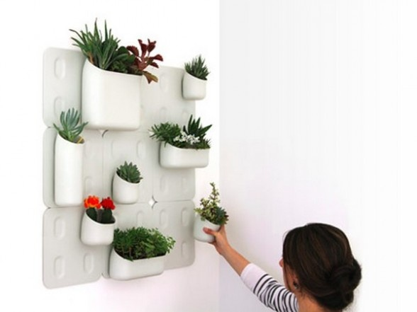 Portable vertical gardens for indoor farming, Ecohabitare Indoor - der vertikale garten live screen danielle trofe