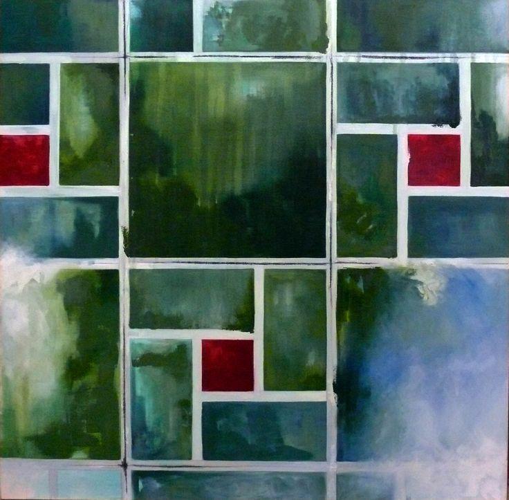 Piso verde - Pintura al óleo
