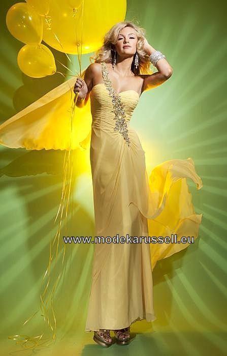 Etui Kleid Diana Träger Abendkleid in Gelb
