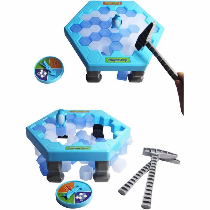 Interactive Ice Breaking Table Penguin Trap Children Funny Game Penguin Trap Activate Entertainment Toy for Kids Family Fun Game