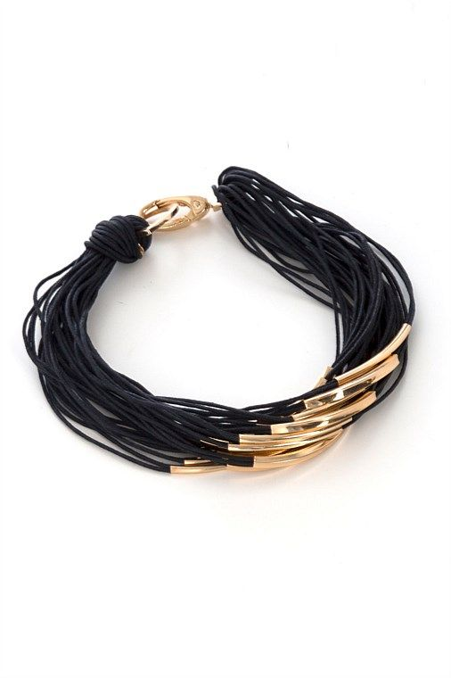 So simple and stylish - Black Gold Necklace