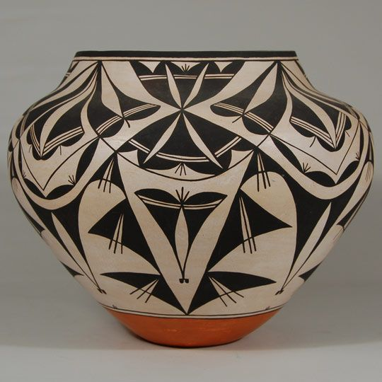 Southwest Indian Pottery Contemporary Acoma Pueblo Drew