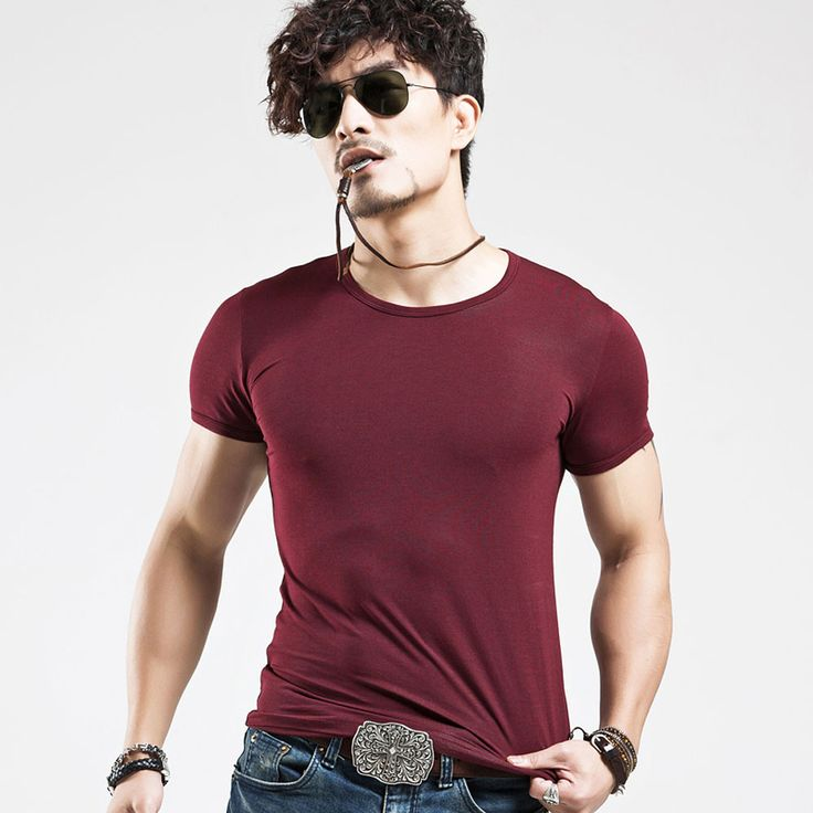 summer new cotton v neck short sleeve t shirt men fashion trends fitness tshirt