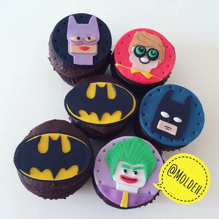 Batman Lego Cupcakes