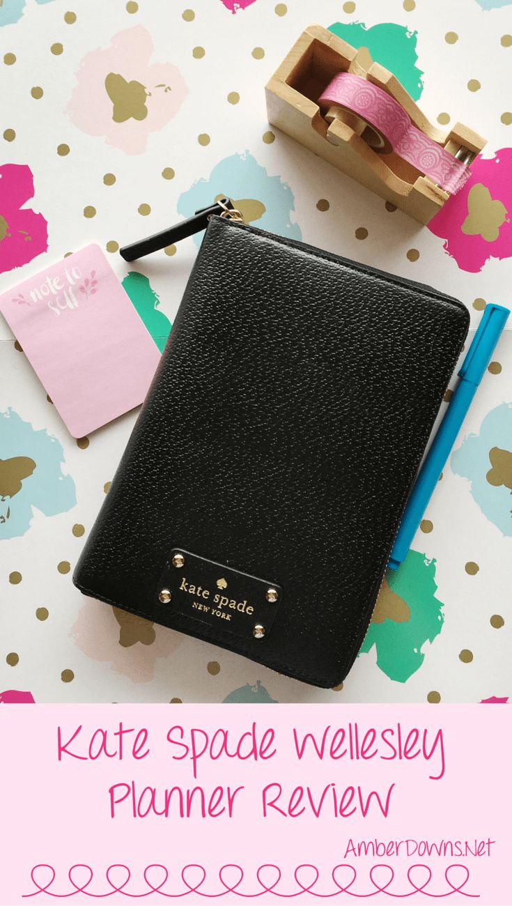 Kate Spade Wellesley Planner Review - Check out this great 6 ring personal size planner similar to Fiilofax a6 , kikki k, and others. AmberDowns.net