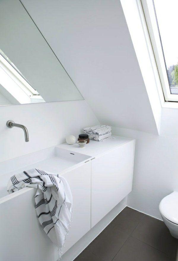 Ein Badezimmer unter Abhang oder Dachboden in 52 Fotos!   – Tia Stringer