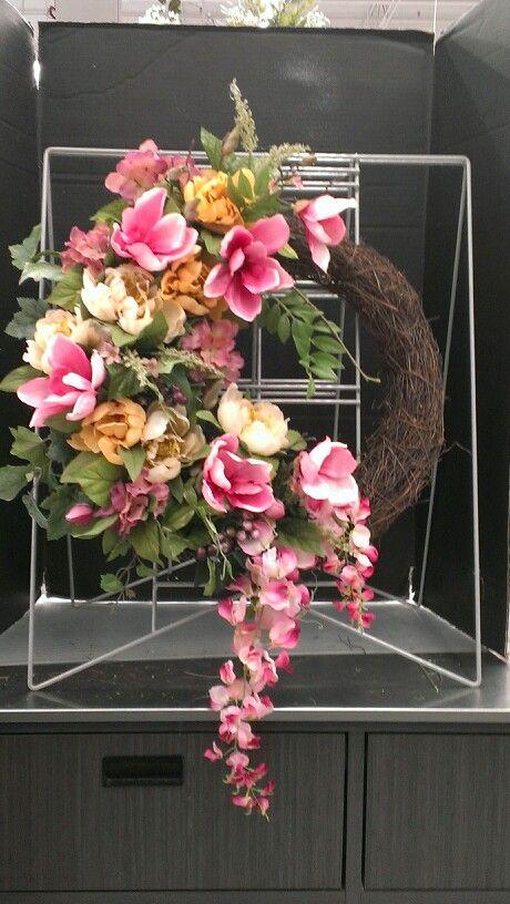 Pink Magnolia wreath...Robin Evans