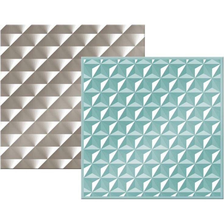 Set de 2 pochoirs de gaufrage We R - Geometric - CartoScrap