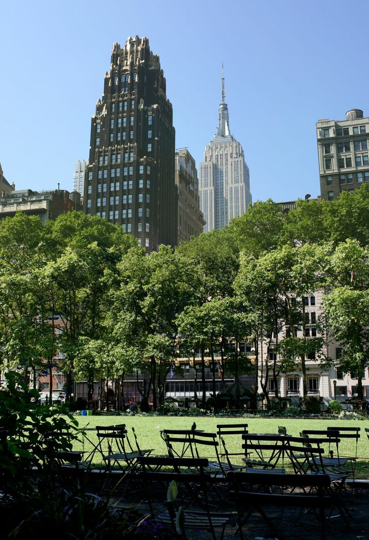 Bryant Park Hotel, and Empire State Building. Summer 2013