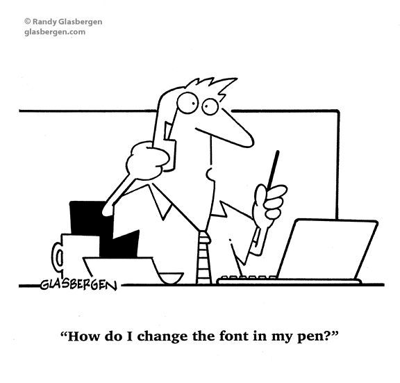 How do I change the font in my pen? –  – #technology