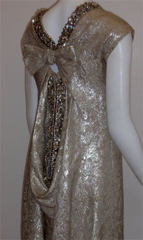 Christian Dior Haute Couture Silver Sequin Gown, Circa 1965 7