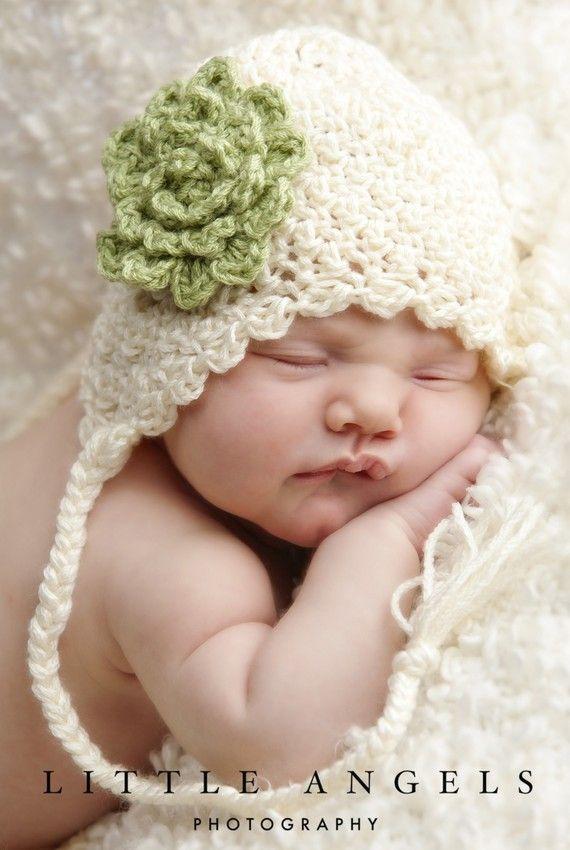 crochet earflap baby hat