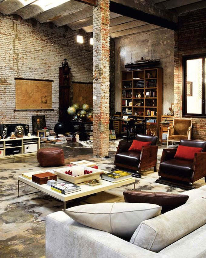 Rustic interior design creates an eclectic look that emphasizes nature: homespun, timeworn, handcrafted, distressed items, constructed of natural material..