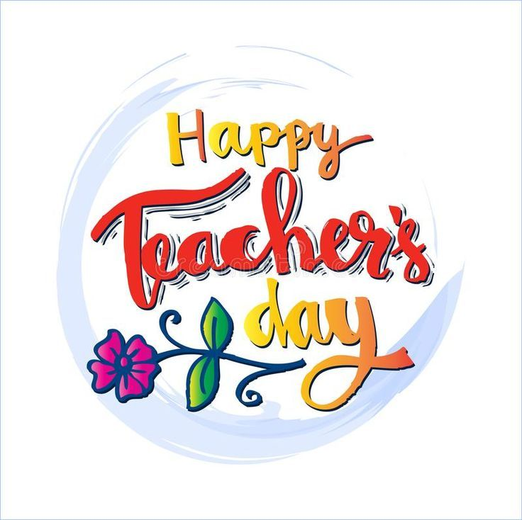 Happy Teachers Day Card Hand Lettering Calligrapgy Affiliate Day Teacher