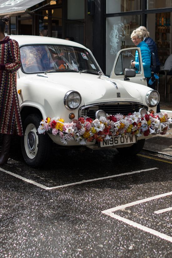 Cute car with flowers