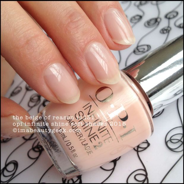 OPI Infinite Shine The Beige of Reason – Soft Shades 2015. Complete collection swatches & review at imabeautygeek.com