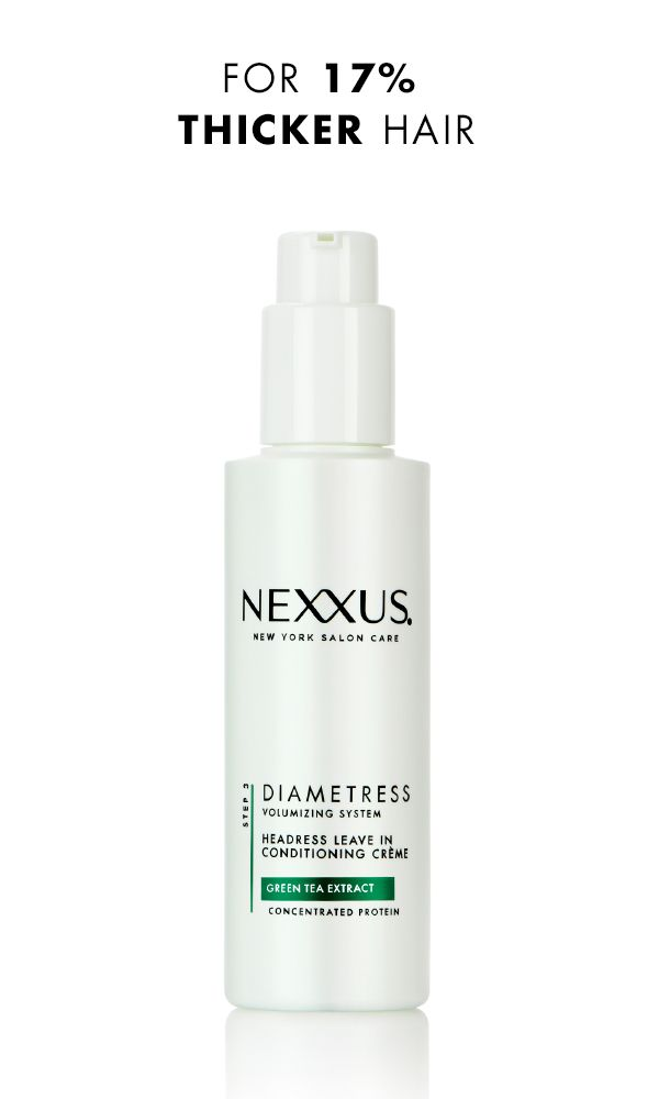 You've teased, flipped and tousled, but your hair is still falling flat? Time to try something new. Nexxus Diametress Headress Leave In Conditioning Crème amplifies your hair from root to tip by increasing the volume of every strand. Simply work it into your post-shower routine by applying a small amount throughout damp hair. Comb it through to evenly distribute and style as usual for visibly fuller hair with gorgeous body and movement.