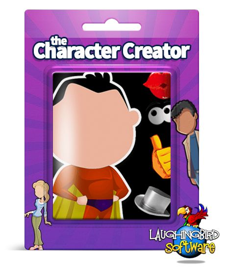The Character Creator: Easily design your own characters. No graphic design or cartoon experience required.