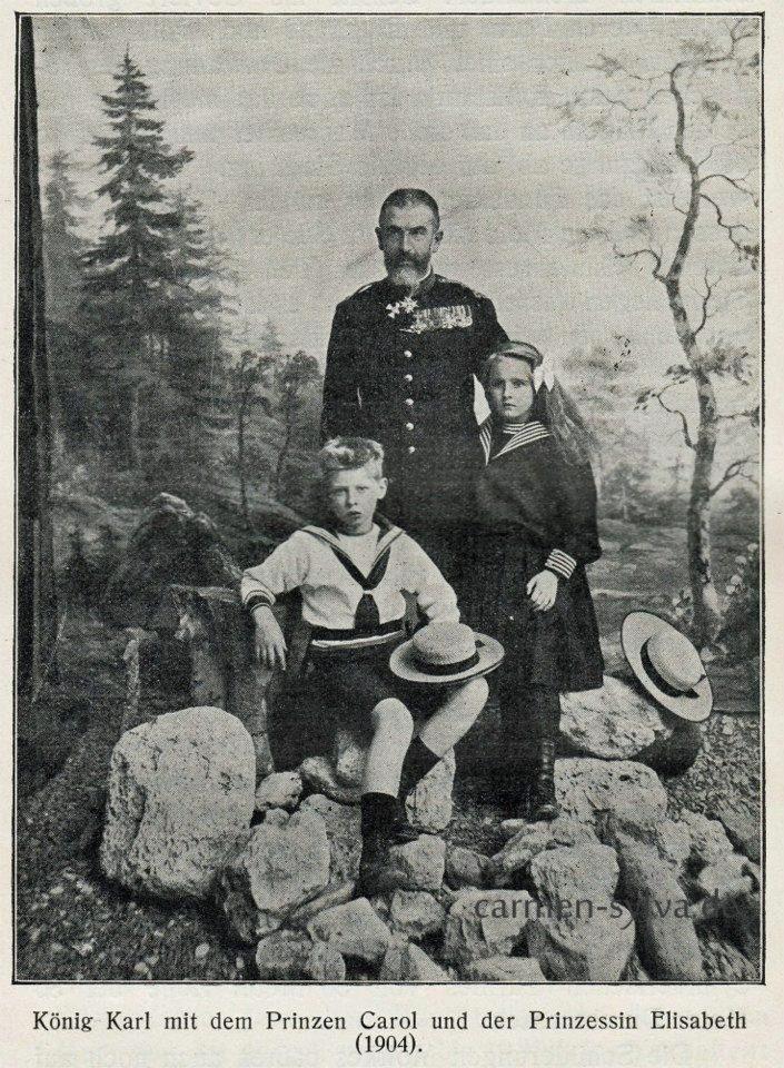 Carol I with Elisabeth and Carol of Romania