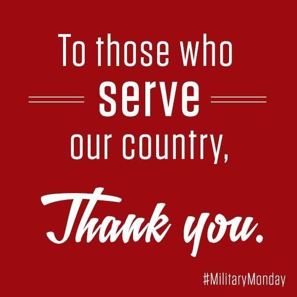 To those who serve!