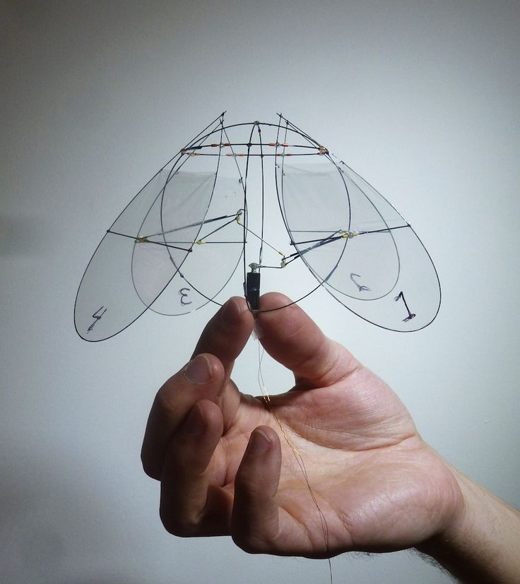 A new robot that measures only 3 inches (8 centimeters) long flies through the air like a jellyfish swims.