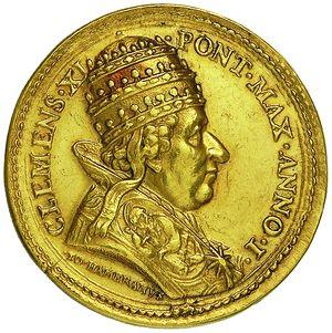 Artemide Aste - Asta XXVI: 1266 - Clemente XI (1700-1721) Medaglia a.I - Dea…