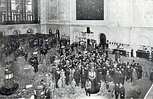 Panic of 1907 - Floor of the New York Stock Exchange (pictured in 1908).
