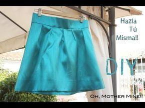 CURSO. Aprender a coser faldas parte 3: Cortar la tela. - YouTube