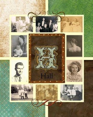 Family history collage canvas / poster  #genealogy