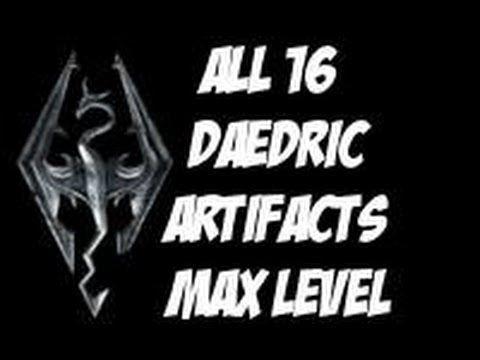 Skyrim- All 16 Daedric Artifacts(Max Level)